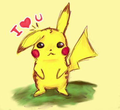 pikachu love by monocker