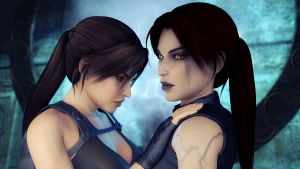 Lara and Lilian by AlexCroft25