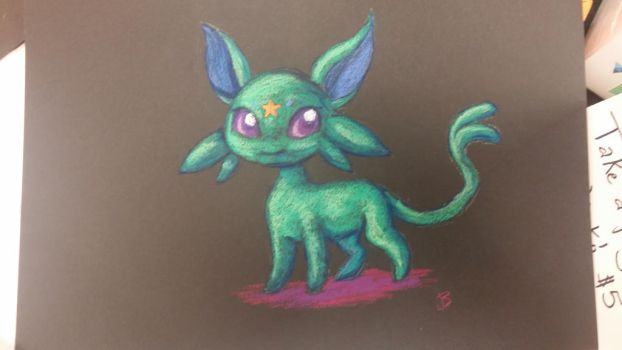 Shiny Espeon Commission by jessijoke