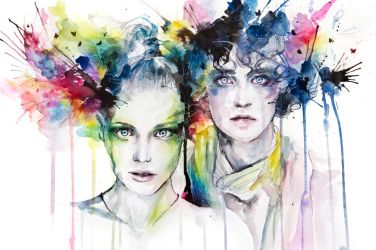 skies on fire by agnes-cecile