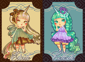 Unicorn Sisters Auction Adoptables ::OPEN:: by ClockworkAdopt