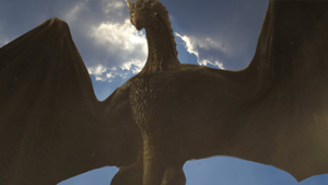 Drogon in the sky by That-Last-Guardian