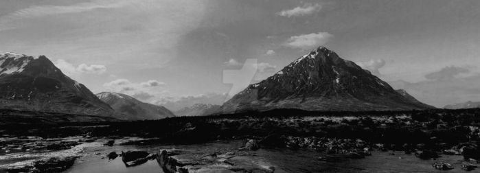 Glen Etive and Buchaille Etive Mor (Glencoe) by Crannogphotographic
