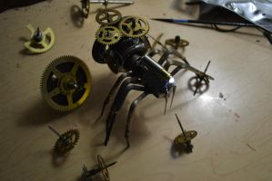 Steampunk Spider by AmbitiousArtisan