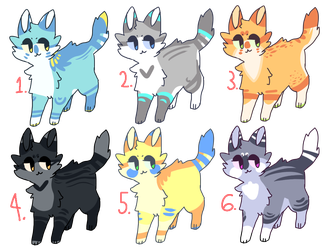 Cat Adoptable Batch [ CLOSED ] by TangerineAdopts