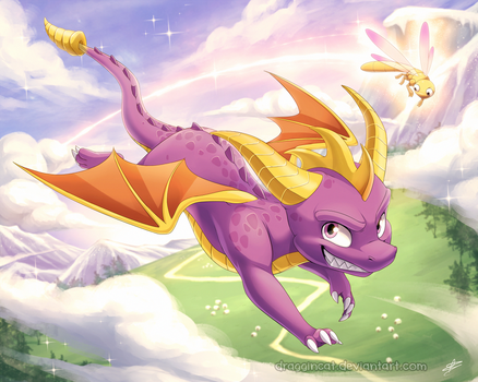 FF: Spyro the Dragon by DragginCat