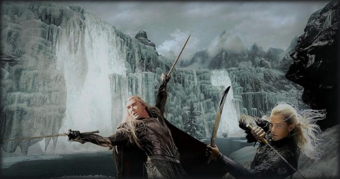 Thranduil and Legolas: Fight together! by Ysydora