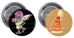 Monster girl Buttons by Krzydoll