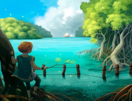 Beyond the mangrove forest by anakareninart
