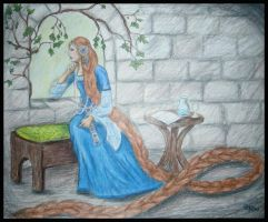 Rapunzel for Rachel by Sidhe-Etain