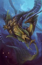 Zodiac Dragon . Pisces by The-SixthLeafClover