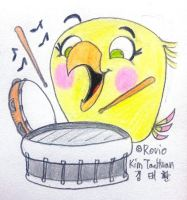 Drumming Poppy by komi114