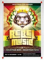Rebel Music - Poster + Flyer by doghead