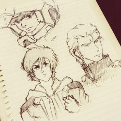 Amuro, Banagher, and Char by trazor29
