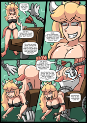 Bowsette And the Barber Chair by Mystical-Pig