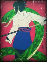 Sasuke Uchiha with snake by JoJoAsakura