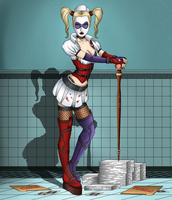 Harley Quinn: Back at the asylum by Sofie-Spangenberg