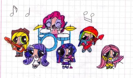 ponypuff girls color by Makita-95