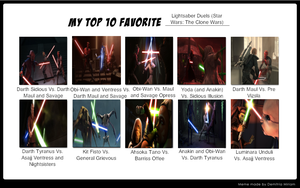 My Top 10 Lightsaber Duels (TCW) by Spider-Bat700