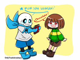 Chocolate for you Human! by OnlyTrashArtsHere