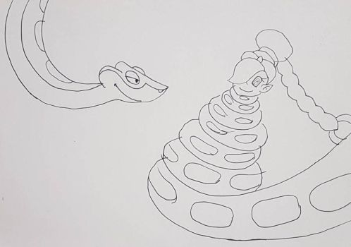 Kaa coiling Rouge by filibolt