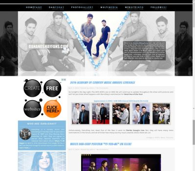 Dan+Shay Wordpress Theme by BurningBrightDesigns