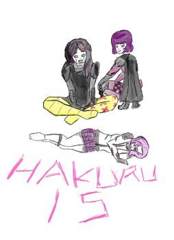 Gabby, Dan and Hit-Girl by Hakuru15