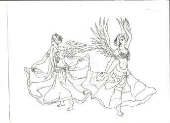 Winged Bellydancers by LoweFantasy