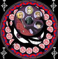 Fullmetal Stained Glass by DanaXNeuro
