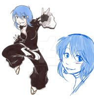 New Bleach OC - Aoi by HoneyAppleNinja