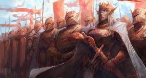 Elven Army by JasonTN
