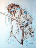 Yoh and Anna from Shaman King by 0ayu-chan0