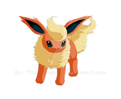 crappy flareon by Tikalie-Wolf