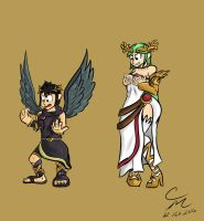 Dark Pit and Palutena Body Swap by CM-The-Artist