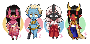 ONI ADOPTABLES (CLOSED) - $5 OR 500 POINTS by setsulko