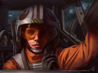 Star Wars: Age of Rebellion - Red 5 by AnthonyFoti