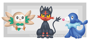 Alola Starters! by TacticianXenia
