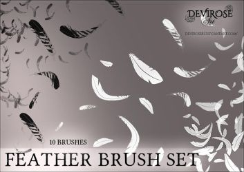 Feather Brushes Set by Devirose81