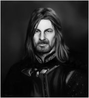 Portrait of Boromir by ReneAigner
