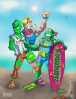 Mutant surfers by MikeBock