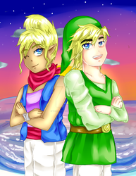 Tetra and Link by TealEevee15