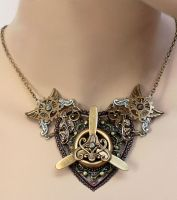 Winged propeller necklace II by Pinkabsinthe