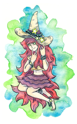 Starry Witch by Oliver-Hamlin