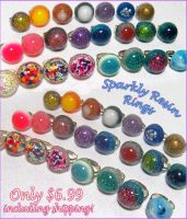 Lots of Resin Rings by bapity88