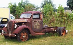 Rusty Truck by Highway by Crystal-Marine
