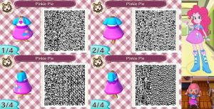 Animal Crossing: New Leaf QR Code - Pinkie Pie by MysteryMoonbeam