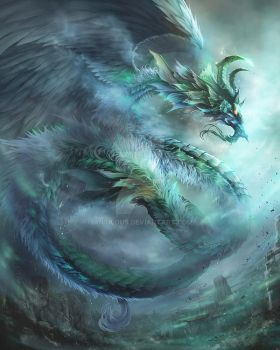 Wind Dragon(Evolution) by antilous