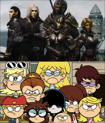 The Loud Sisters Hate the Thalmor by MetalBrony823