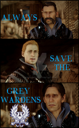 Always save the Grey wardens!!! by RoseDAmour