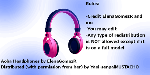MMD Aoba's Headphones for DL by MarsKatt